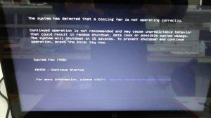 Erreur de ventilateur 90B sur HP 15